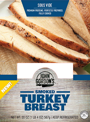 John Gordon's Smoked Turkey Breast Package Label